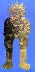 Esta representación de un Dios-Sol, de la colección Crespi, tiene multiples versiones en las Piedras de Ica.