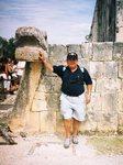 El símbolo de la Serpiente está muy presente en todo el complejo de Chichen Itzá.