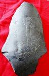 La temible cobra egipcia, ¡La aspid!, grabado de la Cueva Burrows. ¿Alguien se atreve con los pictogramas?